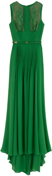 dark green formal dress