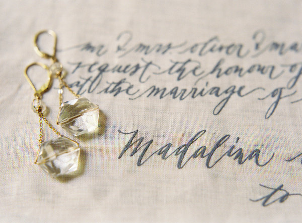 delicate gold earrings