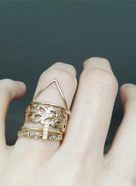 detailed gold ring