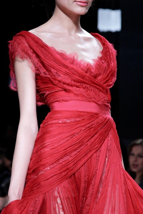 elie saab couture red dress