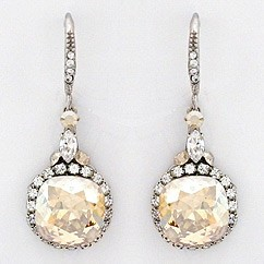 diamond earrings yellow stone