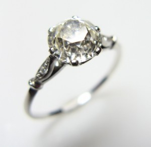 diamond engagement ring vintage