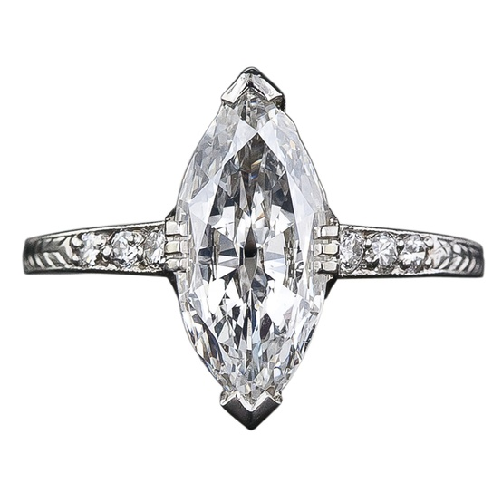 diamond shaped diamond ring