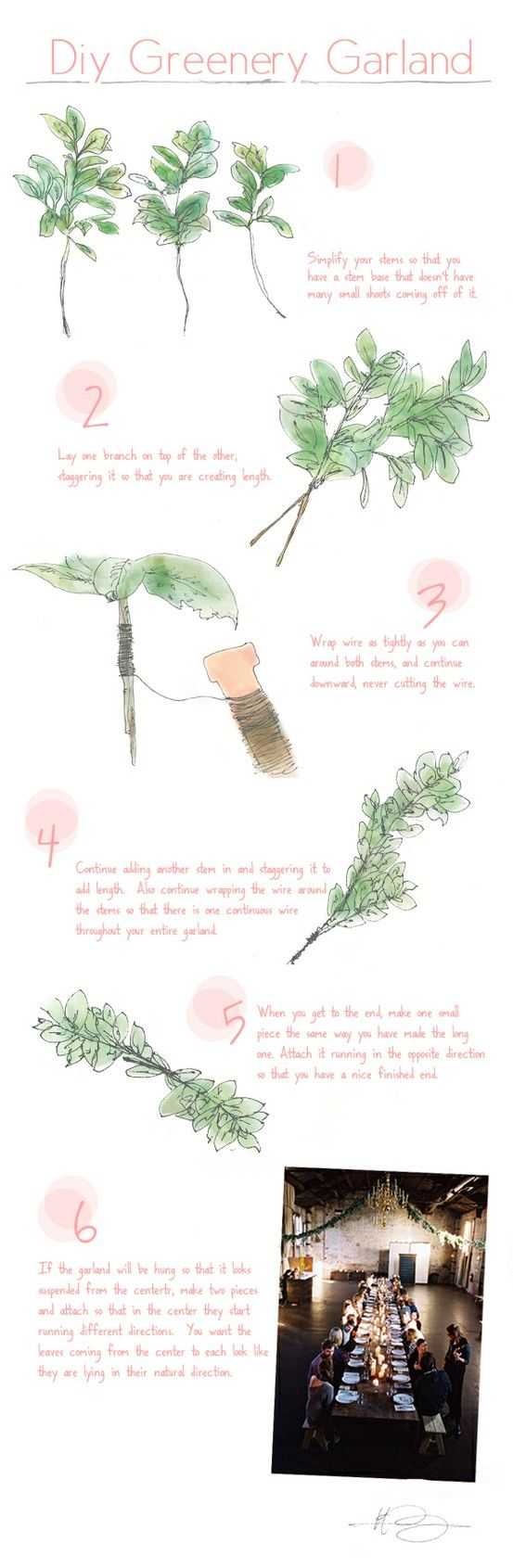 diy greenery garland