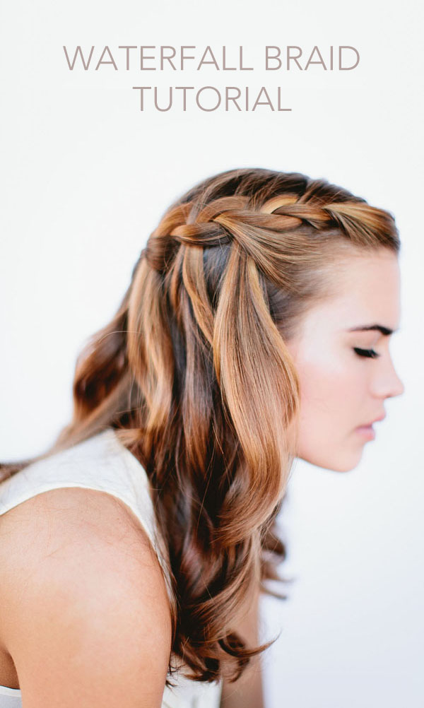 Sensational Waterfall Braid Wedding Hairstyles For Long Hair Once Wed Short Hairstyles For Black Women Fulllsitofus