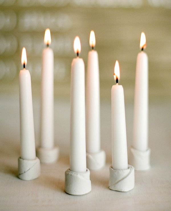 DIY Winter Wedding Candleholder
