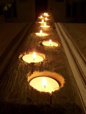 diy wood candles
