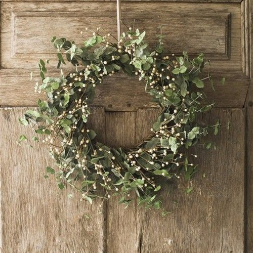 earthy wreath decorations