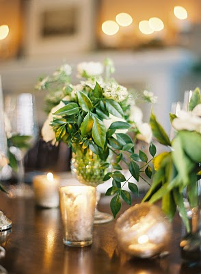 elegant green flower wedding centerpiece