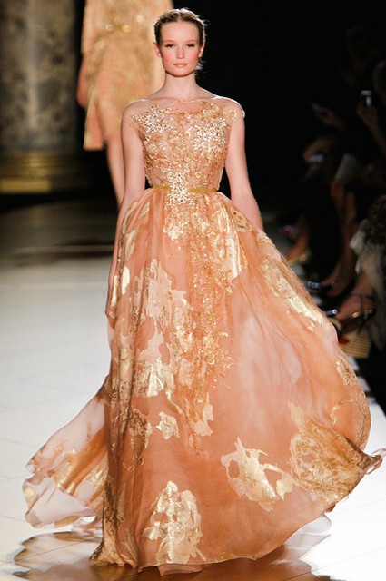 gold rose gown