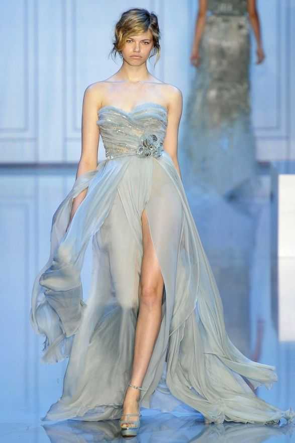 elie saab turquoise bridesmaid dress