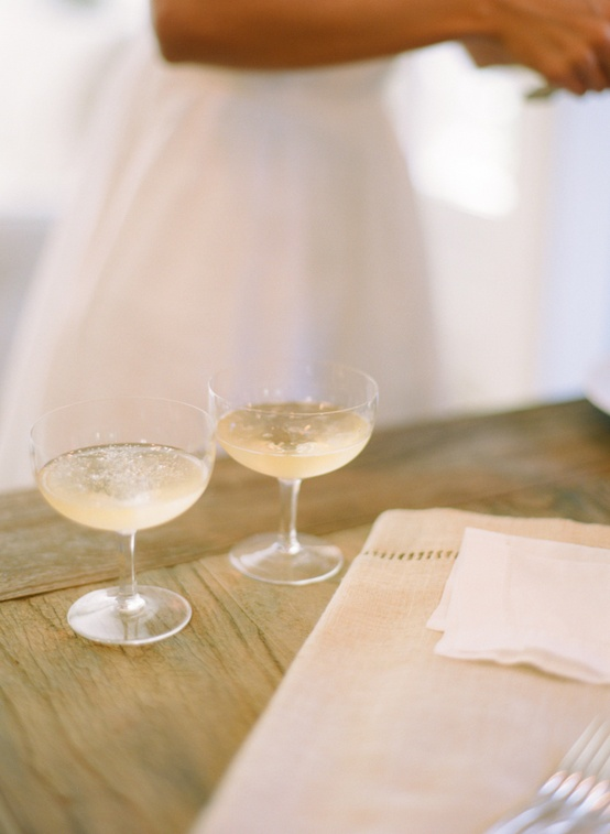 elopement champagne wedding