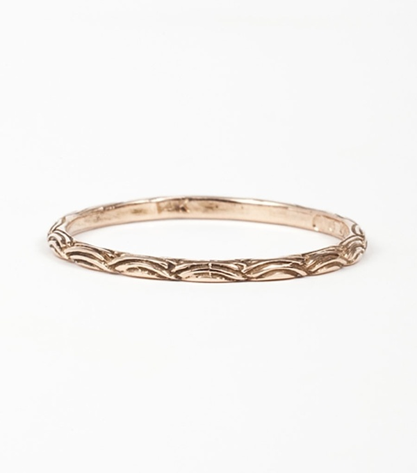 etched gold wedding ring