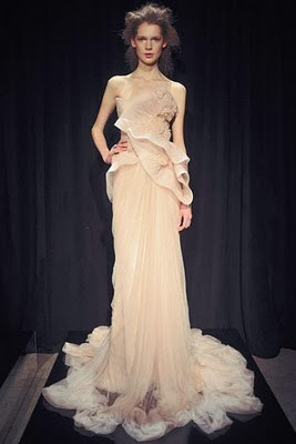 etheral cream wedding gown