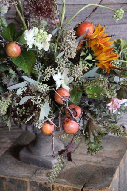 fall apple wedding centerpiece