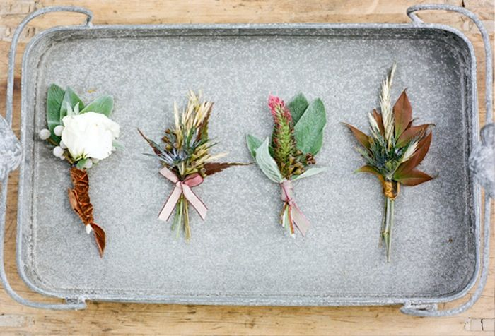 fall flower boutonniere