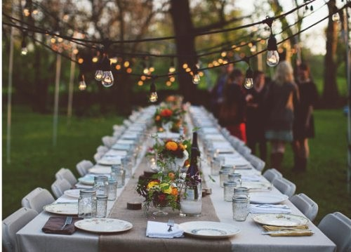 fall garden outdoor wedding
