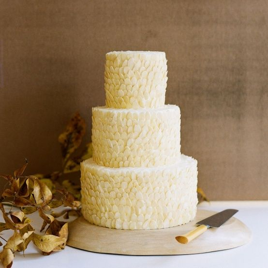 Almond Fall Wedding Cake - Once Wed