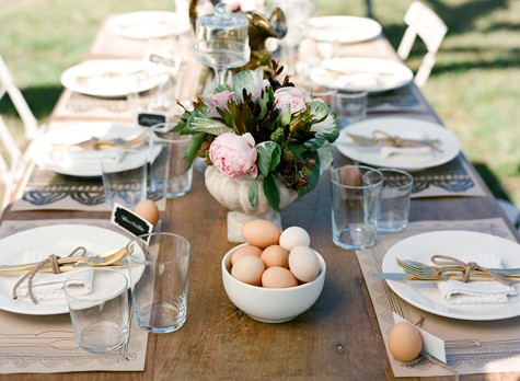 farm egg reception tables
