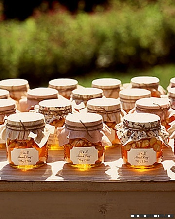 favor display honey jar