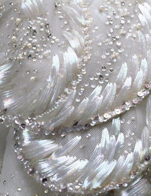 feather sequin design