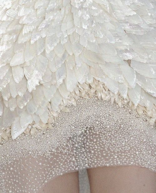 feather white sparkle dress
