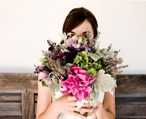 Feminine Rustic Mixed Flower Bouquet