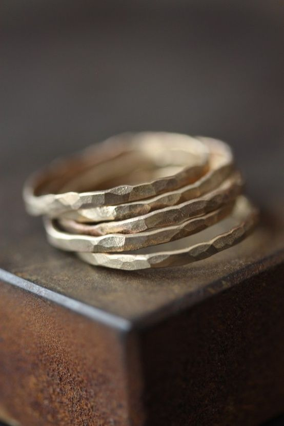 flattened gold rings