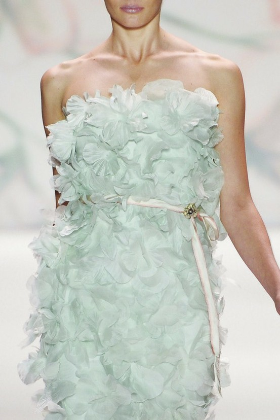 floral mint wedding gown