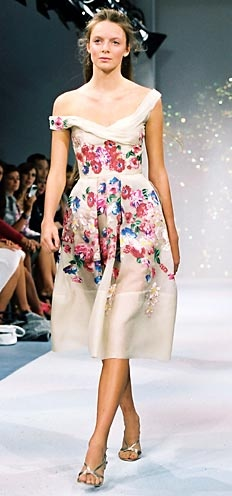 floral runway dress