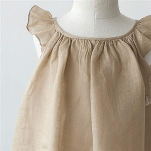 flower girl beige dress