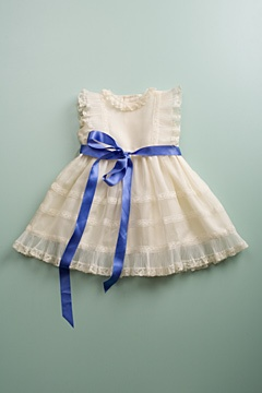 flower girl blue sash