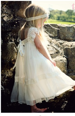 flower girl boho wedding