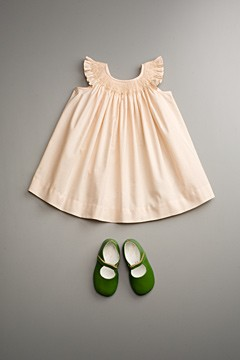 flower girl pink dress green shoes