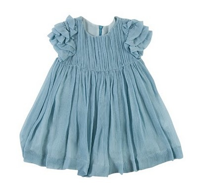 flower girl ruffle blue dress
