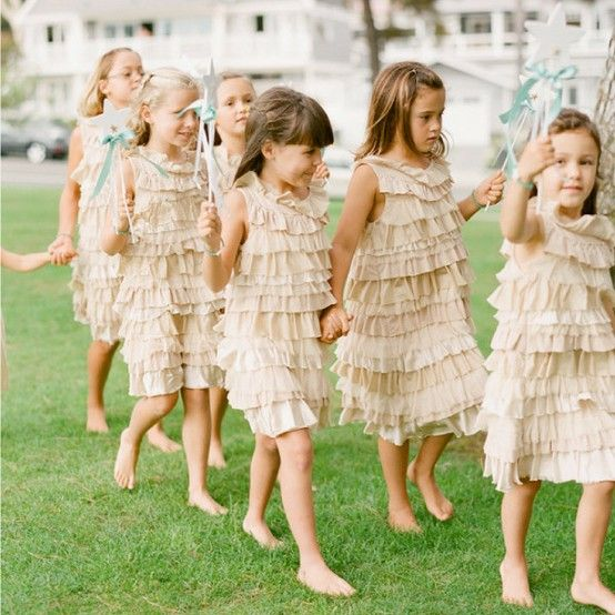 flower girls ruffles