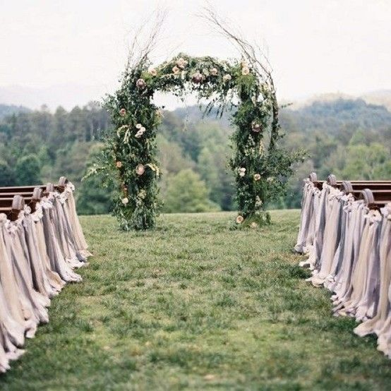 flowering arch wedding ceremony