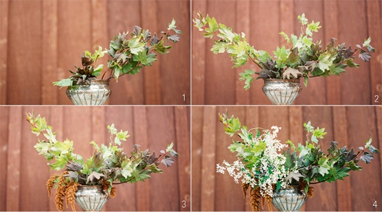 forages fall wedding flowers