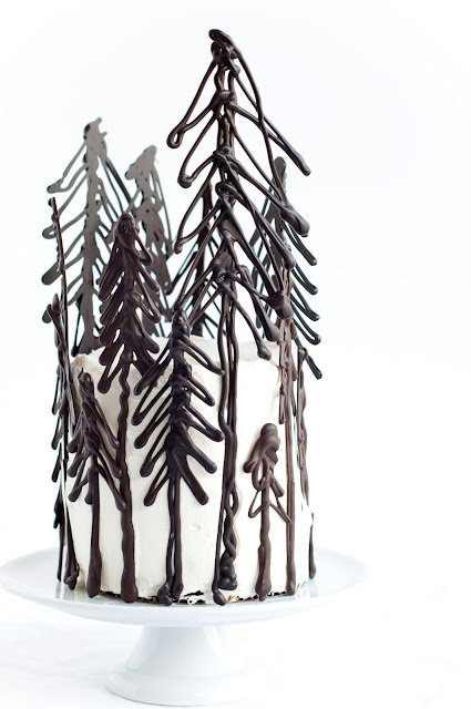 forest cake chocolate wedding cake