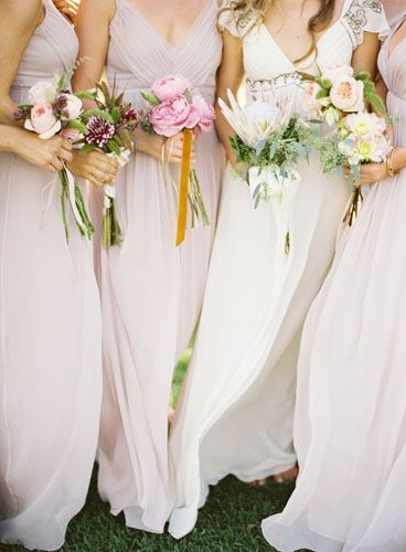formal pink bridesmaid dress gowns