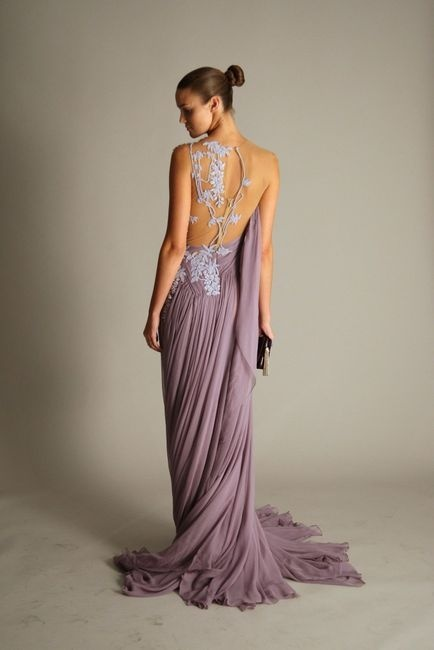 formal purple silver gown