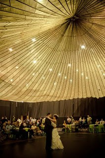 formal white tent wedding