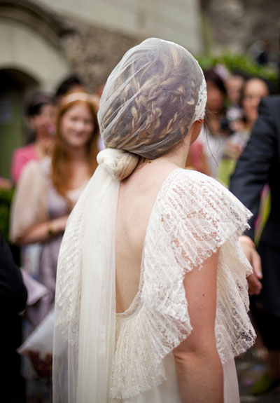 french lace veil wedding