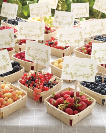 fresh berry wedding favors