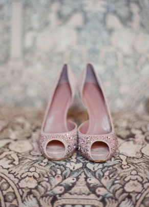 glitter shoes pink