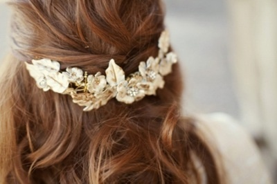 gold barrette hair piece