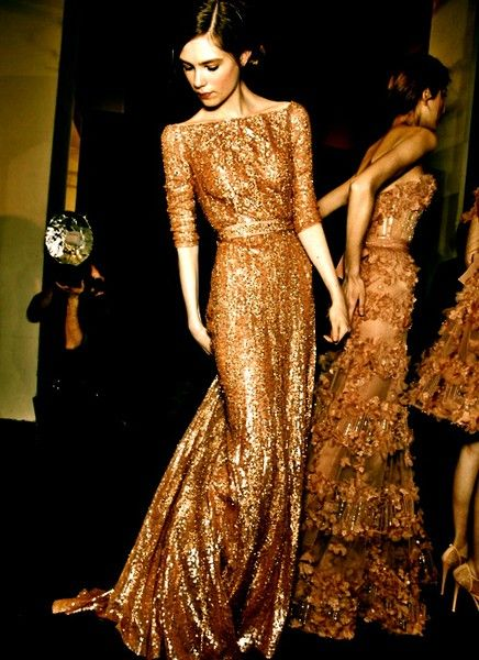 gold-beaded-bridesmaid-dress - Once Wed