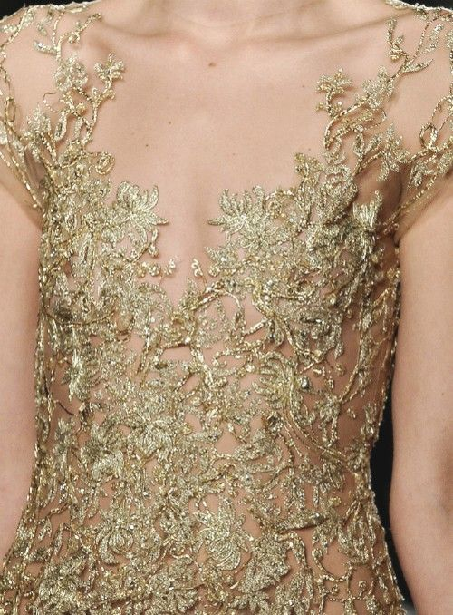 gold embellished gown