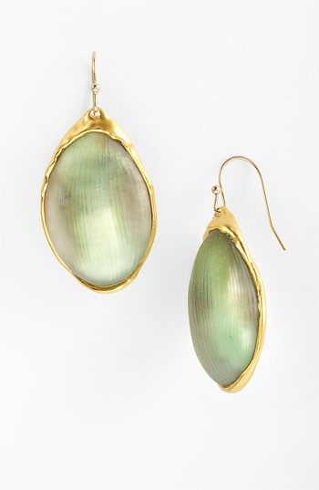 gold green earrings