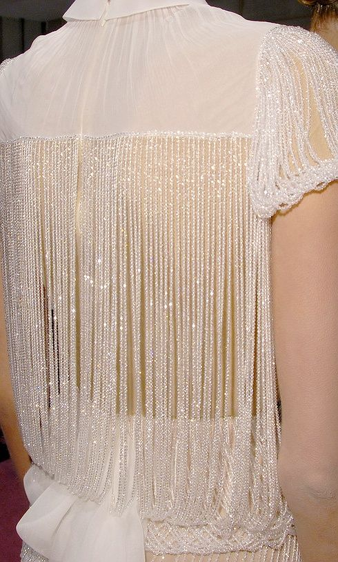 gold ivory beaded dress